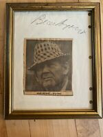 Paul Bear Bryant Signed Autographed Paper Newspaper AP picture Alabama Rare