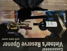 Connoisseur Vintner's Reserve Opener Wine Bottle Opener With Table Stand Nos Euc