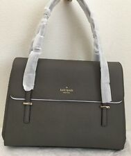 NWT Kate Spade Cedar Street Luciana Saffiano Leather Shoulder Bag in Cliff Grey