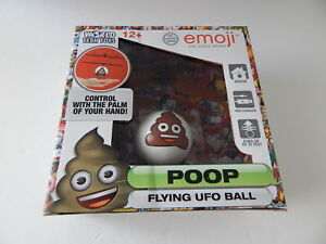 WorldTech 33201 Emoji Poop Flying UFO Ball New