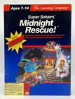 """Super Solvers Midnight Rescue PC Game Tandy 3.5"""" & 5"""" Floppy Discs 1990"""