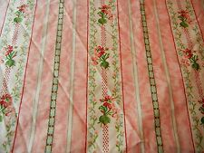 Rare RALPH LAUREN Lillian Evelyn Chintz Floral Full Fitted Sheet Pink White Rose