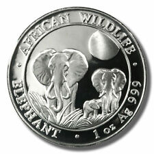 2014  SOMALIA  ELEPHANT WILDLIFE SERIES, .999% 1 Oz Brilliant Uncirculated #3