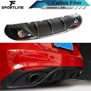 Carbon Heckdiffusor Hinten Diffusor Spoiler Auspuffblenden für Alfa Romeo Giulia
