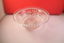 Vintage EAPG ? Clear Glass Flower Dessert Berry Bowl