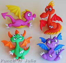 DRAGON TALE - Fairytale Fantasy Animal Wings Novelty Dress It Up Craft Buttons