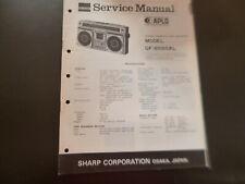 Original Service Manual Schaltplan Sharp GF-8585XL