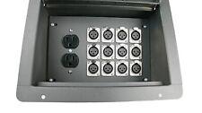 Elite Core FBL12+AC Recessed Stage Floor Box w/12 XLR-F + Duplex AC Power Outlet