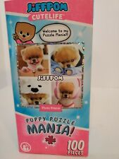 Puppy Mania Snuggle Pomeranian Dog Jigsaw Puzzle JiffPom's Cutelife 100 Pcs New