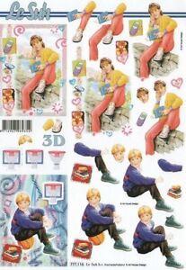 Girls, Boys, Teens, Teenagers - 2*Non-die-cut Decoupage Sheets