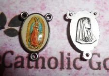 Our Lady of Guadalupe with Bonella Art - Ox Silver Tone Rosary Centerpiece