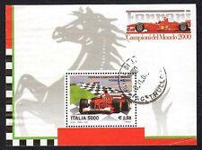 Italia Repubblica 2001 Foglietto Ferrari Campione del Mondo USATO