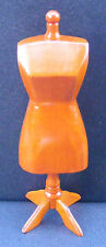 1:12 Scale Wooden Tailors Dummy Dolls House Dress Making Mannequin Accessory P
