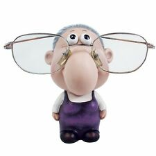 "Old Lady Figurine Eyewear Display Holder, Glasses, Rosy Cheeks, 4 1/2"" Height"