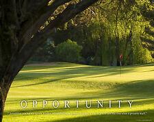 Golfing Motivational Poster Art Print Golf Balls Shoes Clubs Tiger Woods  MVP284