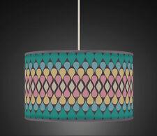 40cm Peacock Green Teardrop Handmade fabric lampshade Pendant Light Shade 490