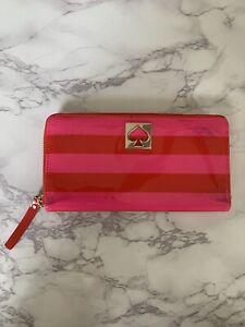 kate spade Red & Pink Patent Zip Around Wallet