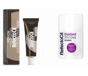 RefectoCil Eyelash Tint Kit - 3 Natural Brown 15ml + Oxidant 10vol cream -Beard