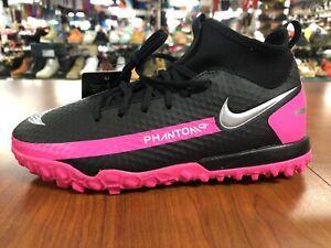 Nike Girls Phantom GT Academy Dynamic Fit Turf Soccer Shoes CW6695-006 Pink 4Y