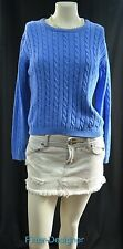 Lilly Pulitzer cotton sweater pullover jumper cable knit top blue cotton Size 14
