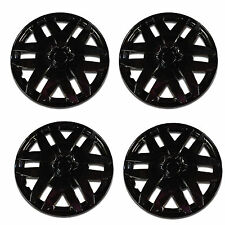 997 Universal Wheel Cover ABS Wheel Skins Set Hub Caps Ice Black 14'' -Set of 4