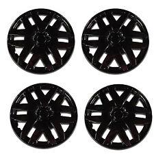 997 Universal Wheel Cover ABS Wheel Skins Set Hub Caps Ice Black 14'' -Set of 4