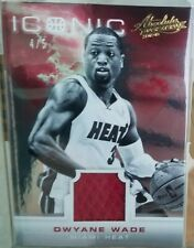 2012-13 Dwyane Wade 4/5 ! Sp Iconic absolute memorabilia immaculate patch HOF