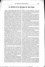 LE CHEMIN DE FER ELECTRIQUE du MONT-BLANC , en 1901-----------------REGIONALISME