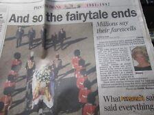 Press Enterprise  Diana Princess of Wales Newspaper Fairytale ends '97
