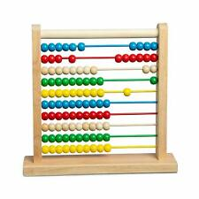 Classic Abacus 100 Wooden Beads Counting Frame Colorful Developmental Math Toy