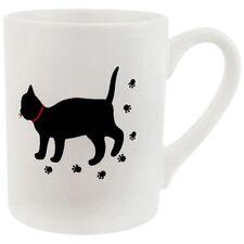Cat With Paw Prints Coffee Mug