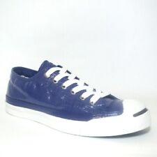 New listing Converse All Star Jack Purcell Shiny Sneakers Trainers Shoes Size UK 4.5 Blue