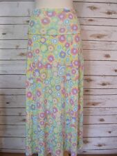 LuLaRoe Maxi Skirt Circle Multi Color Size Extra Small XS NWT's