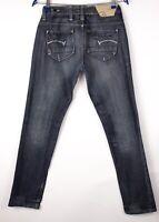 G-Star Brut Femme Radar Étroit Corde Jeans Moulant Taille W29 L32 ARZ753