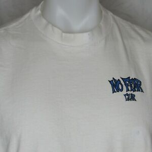 Vintage 90s No Fear XL White T-Shirt No Fear Gear Vtg 1990s