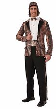"""Huntin' for Love Groom Costume for Men up to 42"""" Chest Camo Tuxedo New by Forum"""