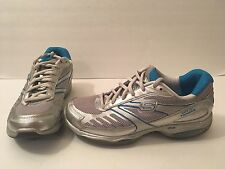 Skechers Shape Ups Toner Up White Silver Blue Shoes Size 7.5