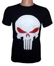 REVENGER SKULL T Shirt 100% Combed Cotton Short Sleeve Tee Costume Superhero Red