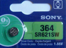 1 PILE SR621SW / SR621 / 364 / 1,55V SONY / ENVOI RAPIDE - PILE BOUTON