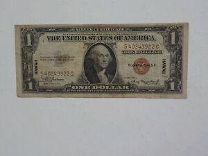 WWII Emergency Note Silver Certificate 1935 1 Dollar Hawaii Paper Money WW2 VTG