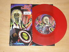 "IRON MAIDEN - OUT OF THE SILENT PLANET - 45 GIRI 7"" RED VINYL LIMITED EDITION"