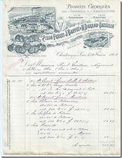 Facture - Rillon Fréres  Produits Chimique Chantenay sur loire 1903