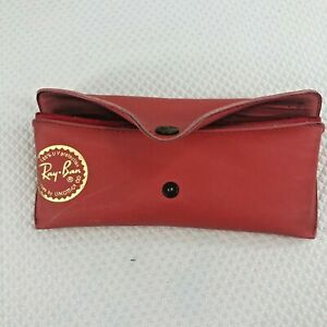 Ray-Ban Luxottica Vintage Red Aviator Sunglasses Soft Case