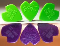 Metallica Kirk Hammett Jazz III Pick - 3 Purple and 3 Green - 6 Dunlop Lot