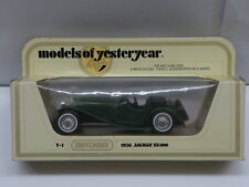 Matchbox Models of Yesteryear Die Cast * 1936 JAGUAR SS100 GREEN * Y-1 Diecast