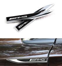 2PCS x Emblem Auto Metall Logo Schriftzug Aufkleber Plakette Badge für BENZ AMG