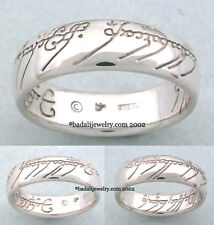 Lord of the Rings - 10K White Gold One Ring - Size 8.5