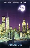 Phanton of the Opera World Trade Center & Brooklyn Bridge Broadway Poster