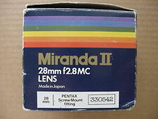 M42 Camera Lenses Film 28mm Focal