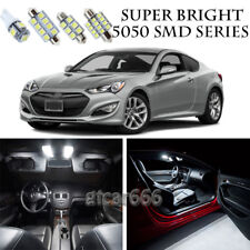 5050 SMD White LED Interior Lights Package Kit For Hyundai Genesis Coupe 8pcs